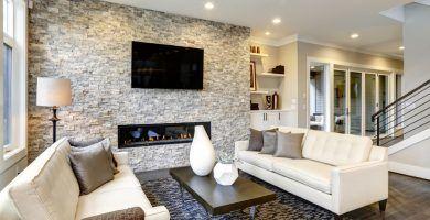 Ideas para decorar paredes de piedra natural en interiores