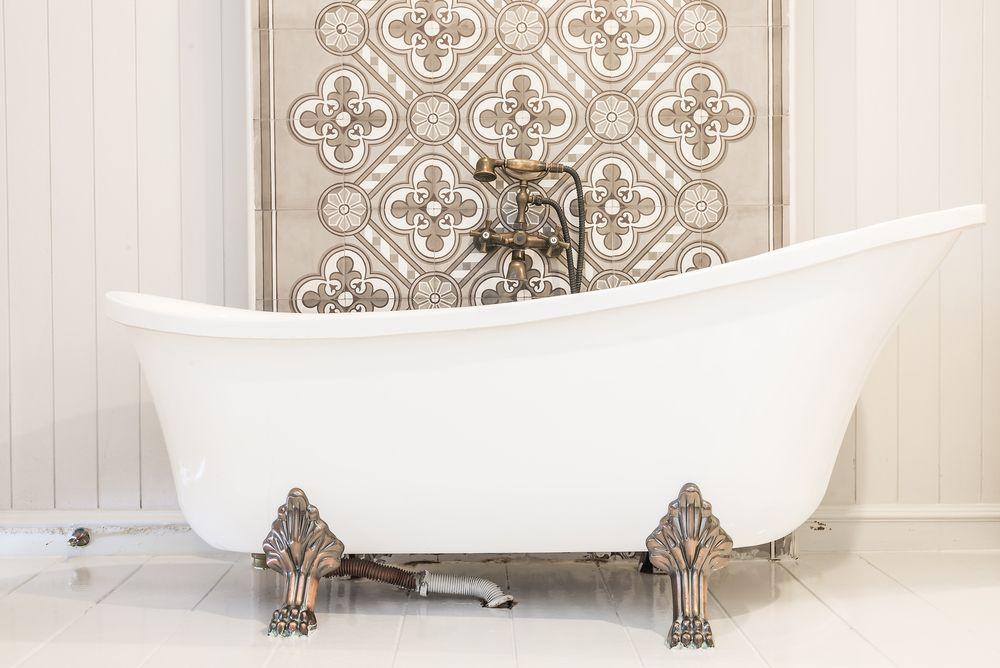 Ideas de baños con azulejos hidráulicos